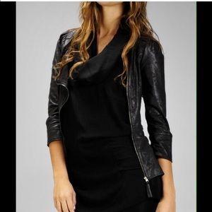Miilla Jackets & Blazers - Designer Faux leather jacket with biased zipper ❤️