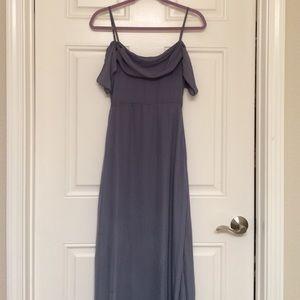 Lulus Radiance Dark Grey Maxi Dress