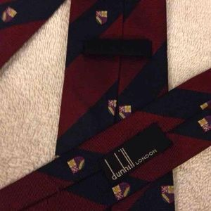 Dunhill Other - Dunhill Skinny Club Stripe Silk Necktie