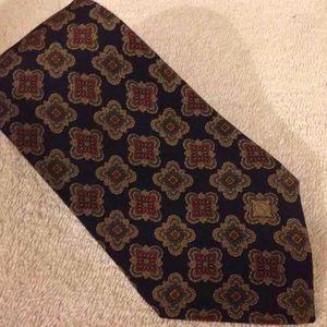 Dunhill Other - Dunhill Navy & Tan Skinny Silk Necktie