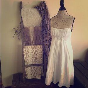 Catherine Malandrino White Cotton Dress