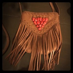 REDUCED! Lucky Brand fringe leather crossbody