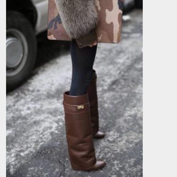 5a5b881f6c7e Givenchy Shoes   Shark Lock Knee Boots   Poshmark