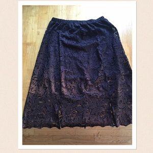 Black lace skirt. NWT