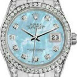 Rolex Accessories - Rolex Datejust Baby Blue Ladies Watch!