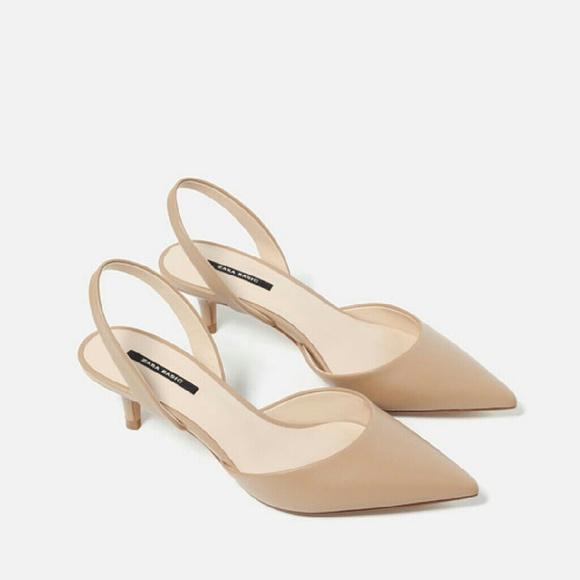 bd32688cd58 Nude mid heels -- Zara