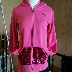 Limited edition PINK sequined zip up