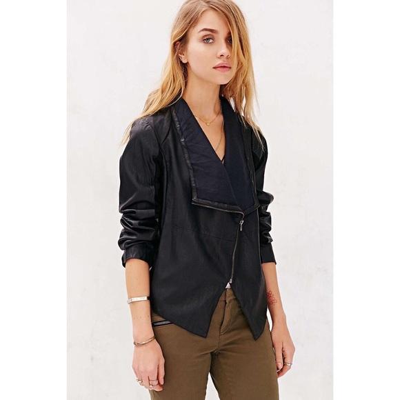 Bb dakota black faux leather jacket
