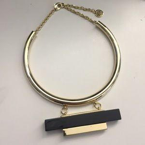 Ben-Amun Jewelry - Ben Amun Gold Collar Necklace with Black Resin