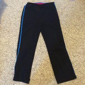 Danskin Pants - Danskin Cropped yoga pant with blue stripe medium