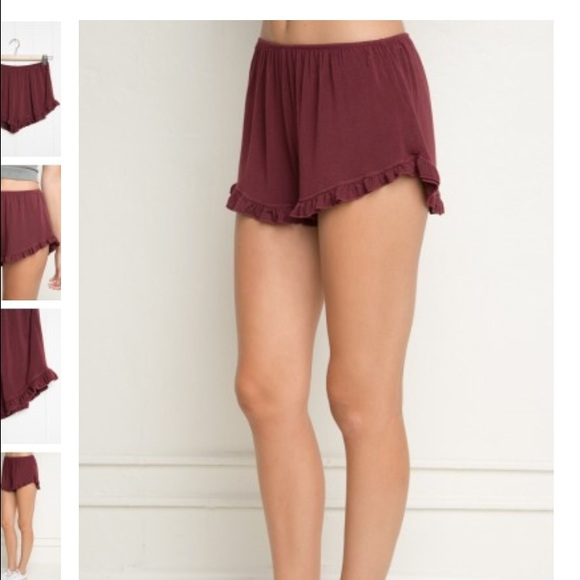 41% off Brandy Melville Pants - Maroon flowy shorts from Morgan's ...