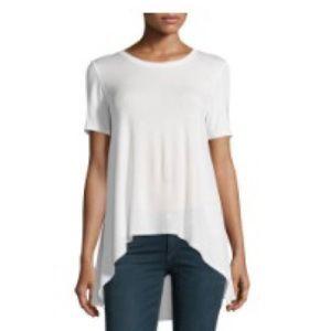 Philosophy NAVY high-low sheer back shirt - S