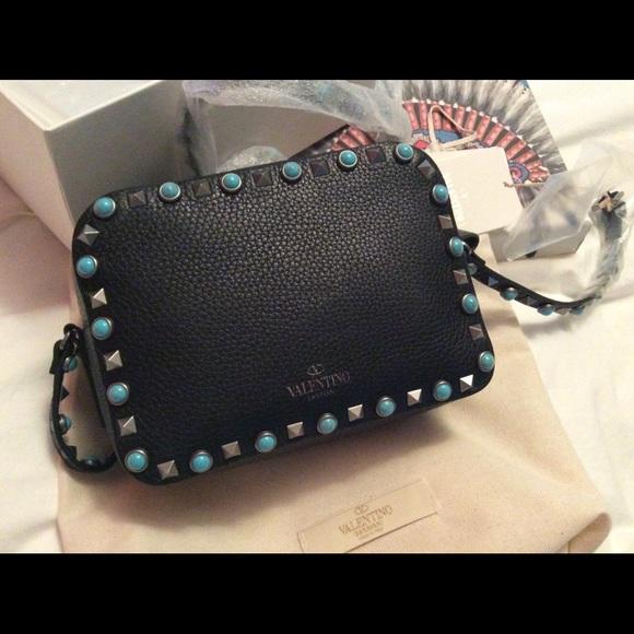 b80970339 Valentino Garavani Bags   Sold Valentino Rockstud Noir Crossbody ...