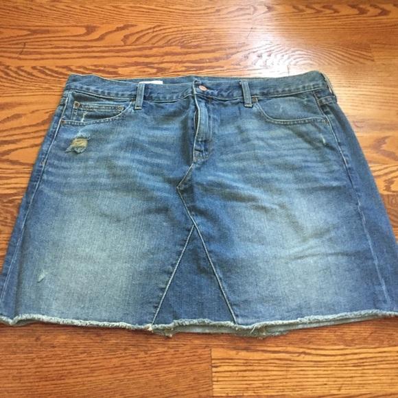 72% off GAP Dresses & Skirts - Gap Denim skirt, size 16, 33 waist ...