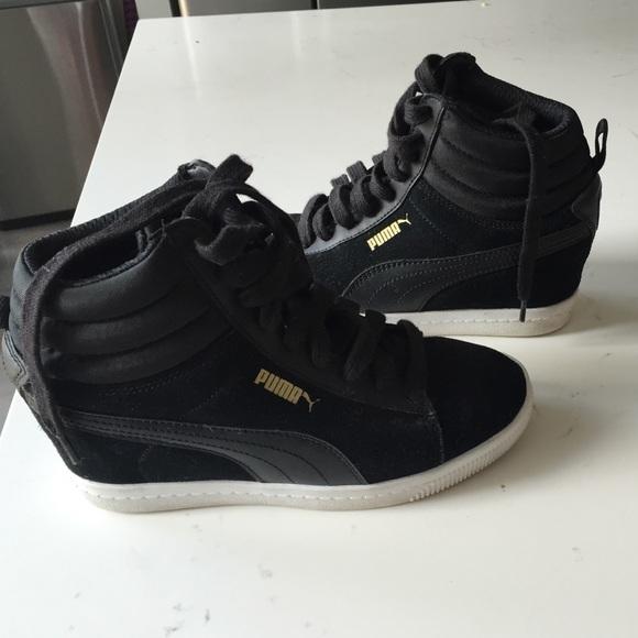 ab809e5639c Puma suede hidden wedge sneakers size 6. M 57c466bcfbf6f9eba7005799