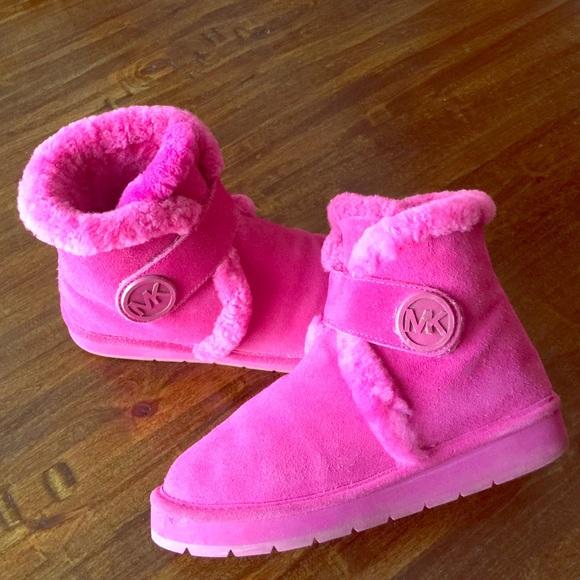 michael kors pink boots