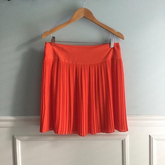 80 loft dresses skirts loft orange pleated