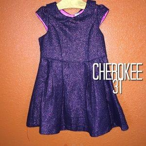 Cherokee Black Pink Peplum Sparkle Dress 3T NWOT