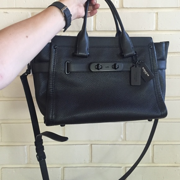 58% off Coach Handbags - Coach Swagger Carryall All black from ...