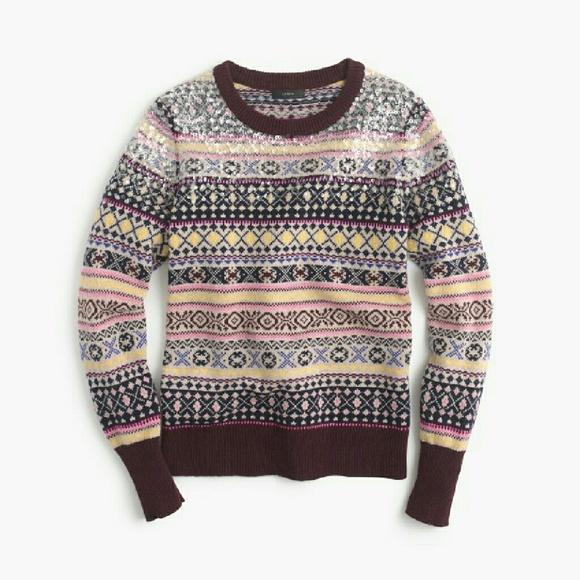 69% off J. Crew Sweaters - ??J.CREW SEQUENCE FAIR ISLE SWEATER ...