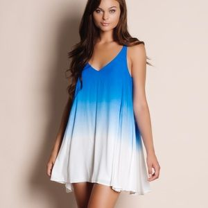 Ombré Blue White Mini Dress