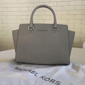 Michael Kors grey satchel