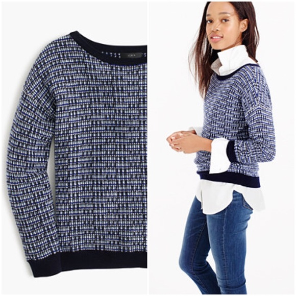 59% off J. Crew Sweaters - J.Crew Tweed Pullover Sweater from ...