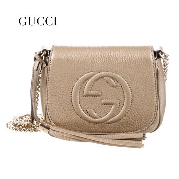 7060d06133a2 Gucci Bags | Nwt Soho Chain Golden Beige Crossbody Bag | Poshmark