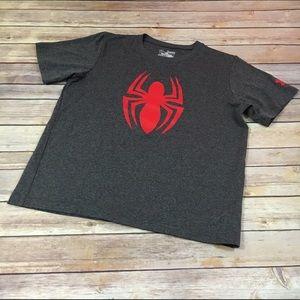 Under Armour Heatgear Spider-Man Shirt YXL Gray