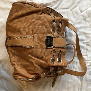 Jimmy Choo leather and snakeskin bag
