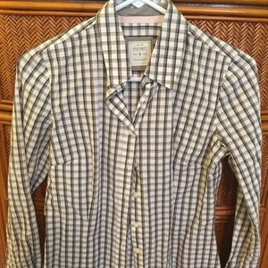 Old Navy Brown-Checked Button Down