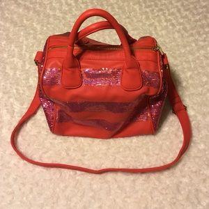 Deux Lux coral sequined purse