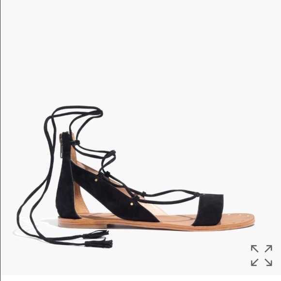 NEW BLACK SANDALS BLACK SANDALS WITH BACK ZIP GLADIATOR SHOES           MARIPOSA