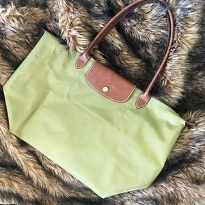 Longchamp Le Pliage Tote in Olive Green