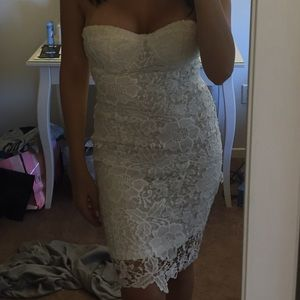 Missguided white lace dress