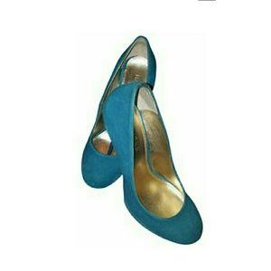 Cobalt blue suede like heels
