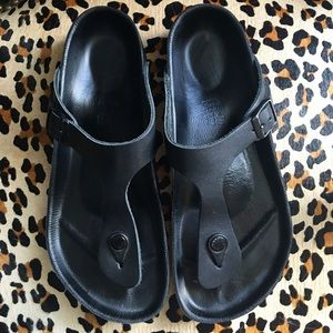 Birkenstock Gizeh Exquisite Black Sandals Size 40