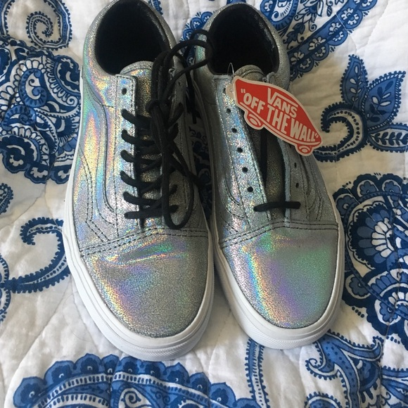 Old Skool holographic iridescent Vans