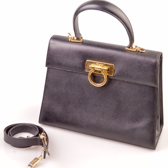 Ferragamo Handbags -  Ferragamo top handle kelly bag 46491f082d