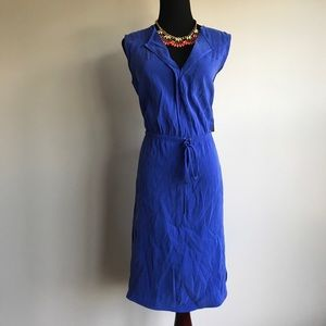 Ivy & Blu - Cobalt Blue Sleeveless Blouse Dress