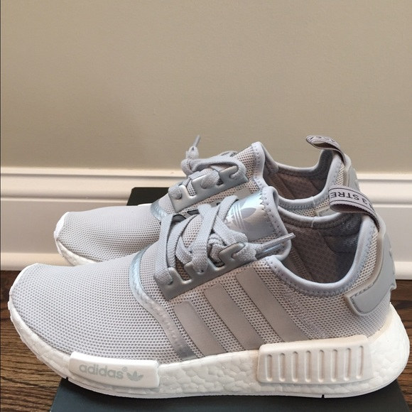 983c929e8 Brand New Adidas NMD R1 Silver Off White Women
