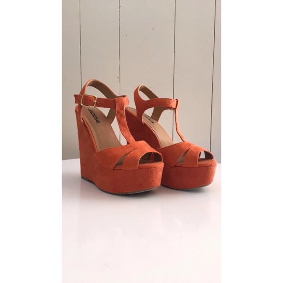 54 soda shoes orange creamsicle wedges from