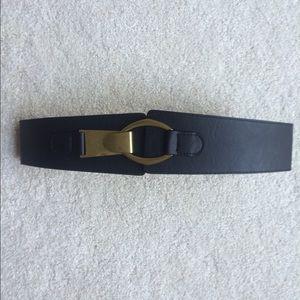Accessories - High Waist Black Leather Belt