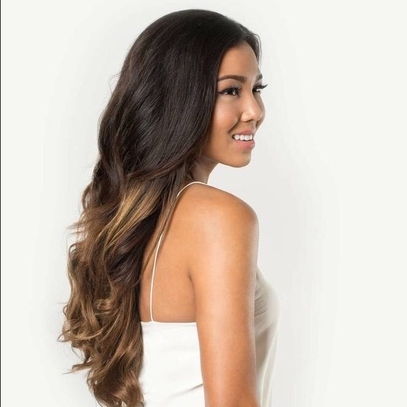 Other Luxy Hair Ombre Chestnut 20 Clip On Extensions Poshmark