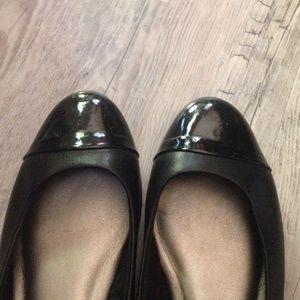 Kelly & Katie Patent Toe Flats