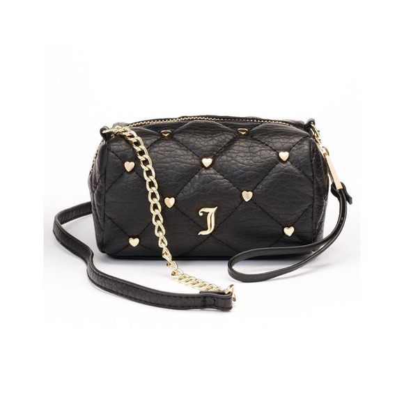 JUICY COUTURE Black Quilted Mini Crossbody Bag 255ebf828