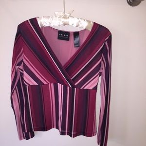 Axcess Tops - Axcess by Liz Claiborne fitted shirt