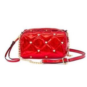Juicy Couture Handbags - JUICY COUTURE Red Quilted Mini Crossbody Bag