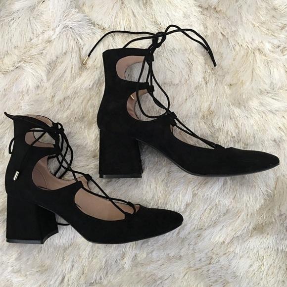 d372695df3328 Zara block heel lace up pumps size 38. M_57c49fe956b2d60f78001279