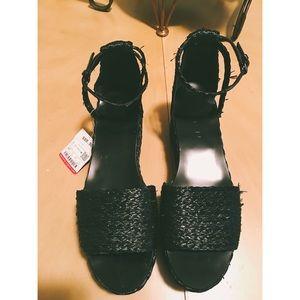 Zara Black Ankle Strap Platforms Sale